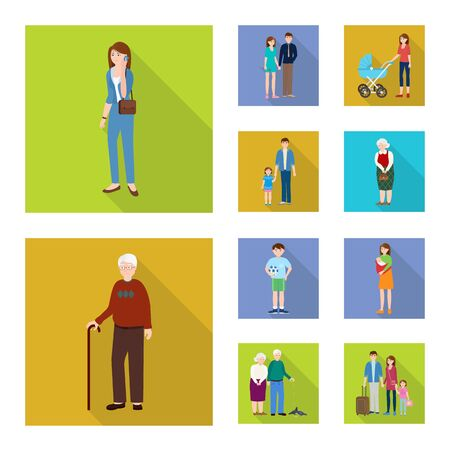Vector design of generation and happy symbol. Collection of generation and avatar vector icon for stock.