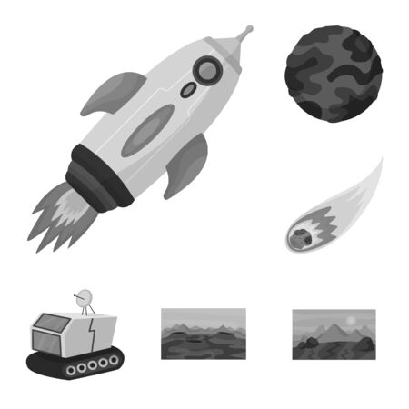 Vector design of universe and travels icon. Set of universe and cosmic stock symbol for web.
