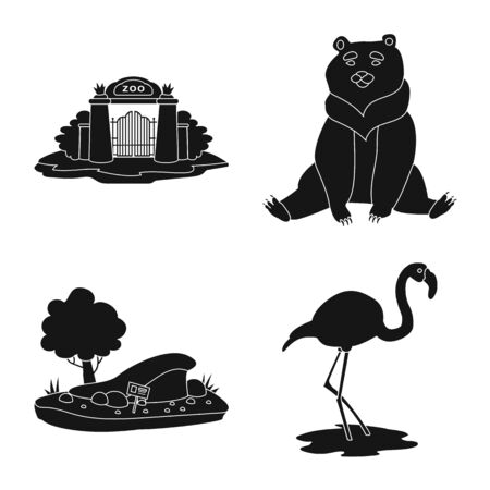 Isolated object of fauna and entertainment icon. Set of fauna and park vector icon for stock.