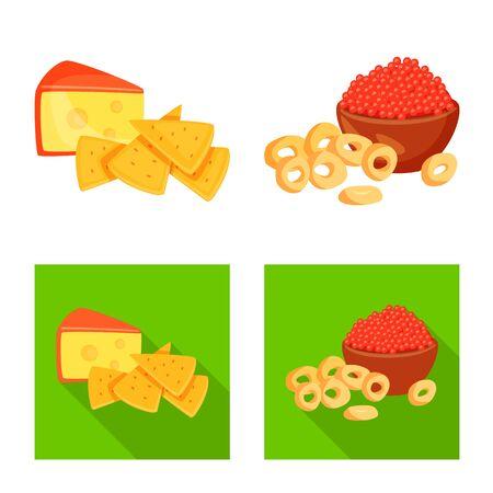 illustration of taste and seasoning symbol. Set of taste and organic  icon for stock. Stock Illustratie