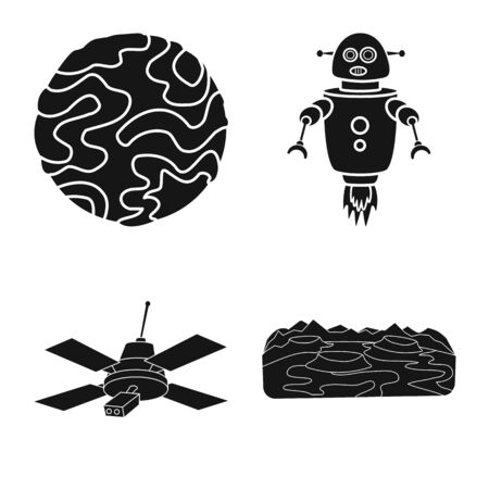 Isolated object of colonization and sky symbol. Set of colonization and galaxy vector icon for stock.