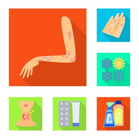 Vector design of dermatology and disease icon. Set of dermatology and medical stock symbol for web. Illustration