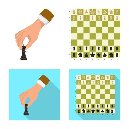 Vector design of checkmate and thin symbol. Collection of checkmate and target stock vector illustration. Illustration
