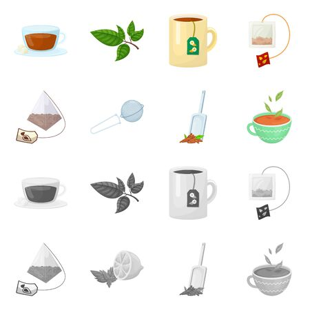 Isolated object of healthy and floral icon. Collection of healthy and gradient stock symbol for web. Ilustracja
