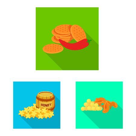 Vector design of taste and seasonin icon. Set of taste and organic stock vector illustration.