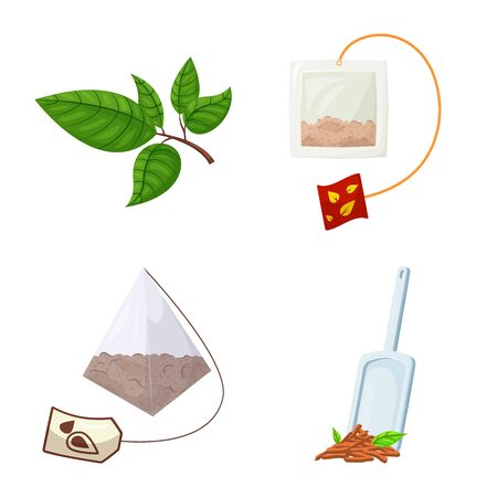 Isolated object of food and natural. Collection of food and black vector icon for stock. Ilustracja