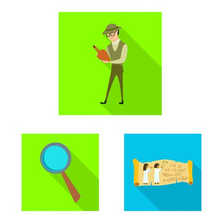 Vector illustration of story and items sign. Set of story and attributes vector icon for stock.