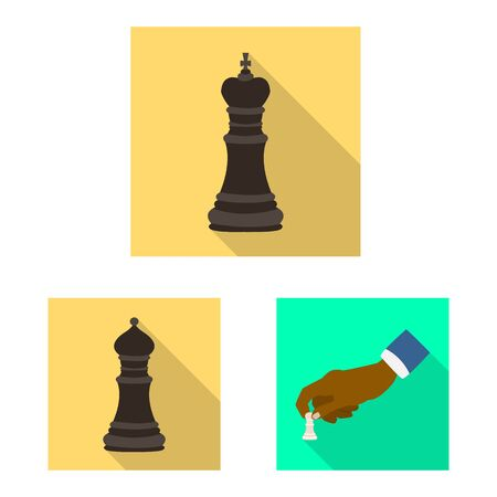 Isolated object of checkmate and thin. Set of checkmate and target stock symbol for web. Illustration