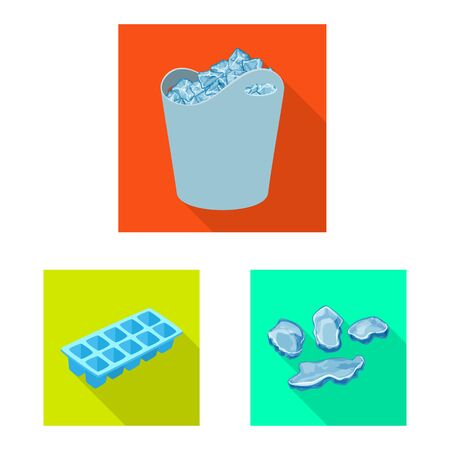 Vector illustration of texture and frozen icon. Collection of texture and transparent stock vector illustration.
