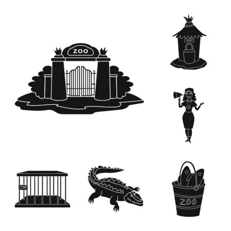 Vector illustration of fauna and entertainment . Collection of fauna and park stock vector illustration.