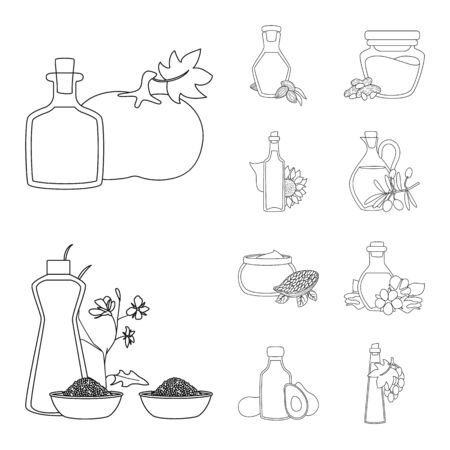 Vector design of healthy and vegetable symbol. Set of healthy and organics stock symbol for web.