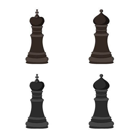 Isolated object of checkmate and thin icon. Collection of checkmate and target stock vector illustration.