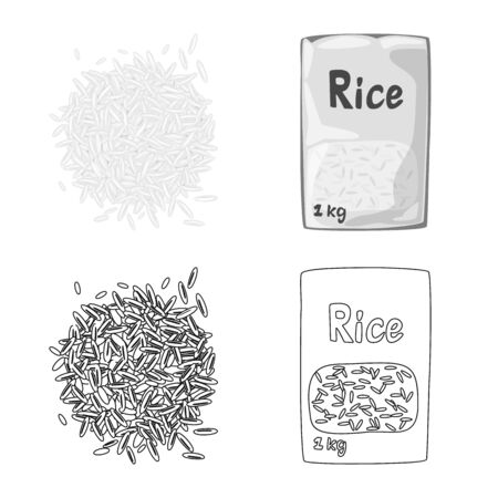 Isolated object of crop and ecological icon. Collection of crop and cooking stock symbol for web. Illustration