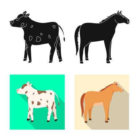 Vector illustration of breeding and kitchen symbol. Collection of breeding and organic stock symbol for web. Stok Fotoğraf - 133404869