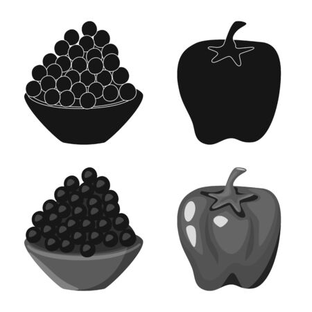 Vector illustration of taste and product icon. Collection of taste and cooking stock symbol for web.