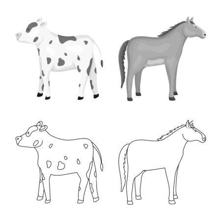 Vector illustration of breeding and kitchen symbol. Collection of breeding and organic stock vector illustration. Stok Fotoğraf - 133404880