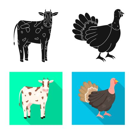Vector design of breeding and kitchen sign. Collection of breeding and organic stock vector illustration.