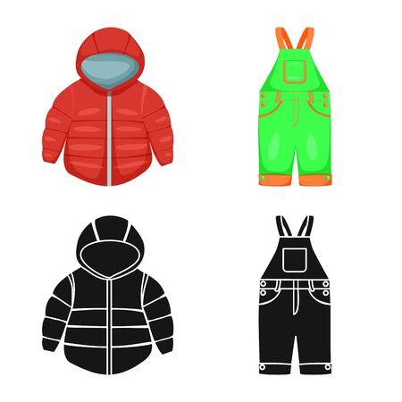 Vector design of fashion and garment symbol. Set of fashion and cotton stock symbol for web. Stok Fotoğraf - 133404902