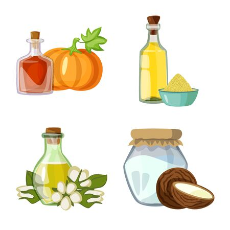 Isolated object of bottle and glass icon. Set of bottle and agriculture vector icon for stock.