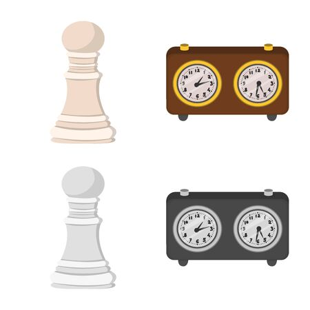 Isolated object of checkmate and thin symbol. Collection of checkmate and target stock symbol for web. Stok Fotoğraf - 133404948