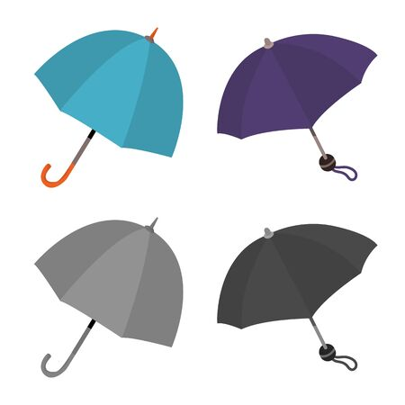 Isolated object of protection and closed icon. Collection of protection and rainy stock symbol for web. Stok Fotoğraf - 133404950