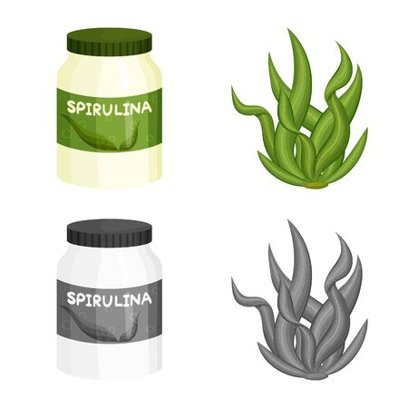 Isolated object of protein and sea symbol. Collection of protein and natural vector icon for stock. Stok Fotoğraf - 133404959