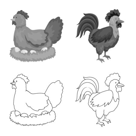 Vector illustration of breeding and kitchen . Set of breeding and organic stock symbol for web.
