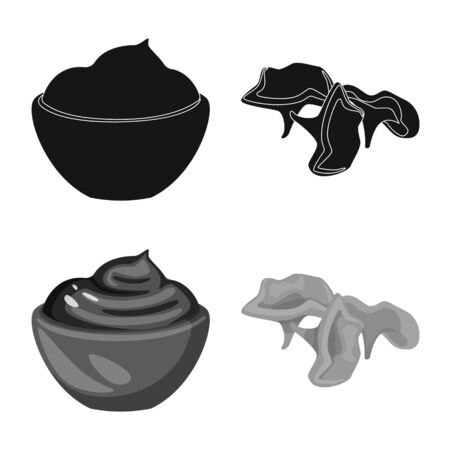 Isolated object of taste and product logo. Set of taste and cooking vector icon for stock. 일러스트