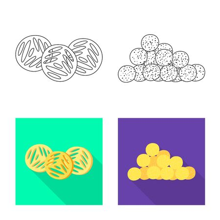 Vector design of Oktoberfest and bar icon. Collection of Oktoberfest and cooking vector icon for stock.