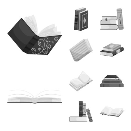 Vector illustration of education and source icon. Collection of education and information vector icon for stock.