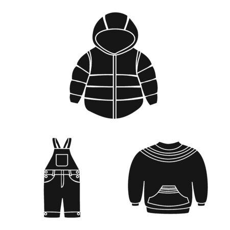 Vektordesign von wenig und Baumwolle. Satz kleine und Kindervektorikone für Vorrat.