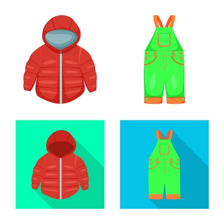 Isolated object of fashion and garment. Set of fashion and cotton vector icon for stock.