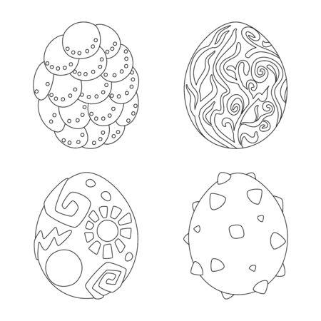 Vector design of dinosaur and magic symbol. Collection of dinosaur and fantasy vector icon for stock. Ilustrace