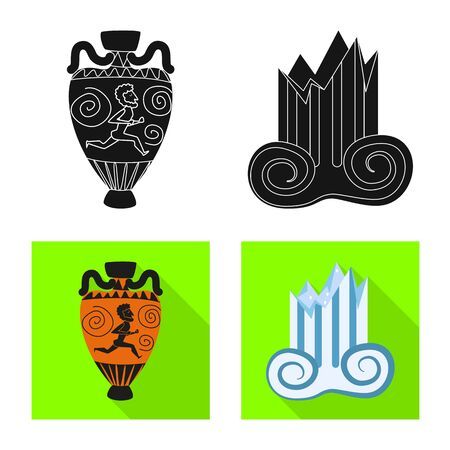 Vector design of story and items icon. Collection of story and attributes stock vector illustration.