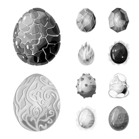 Vector design of monster and fantasy symbol. Collection of monster and big stock symbol for web.