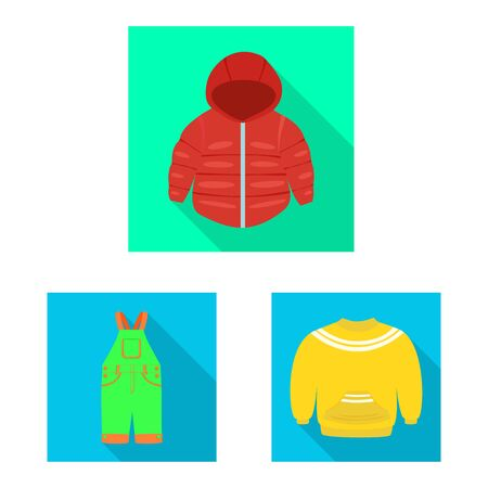 Vector design of fashion and garment icon. Collection of fashion and cotton vector icon for stock. Çizim