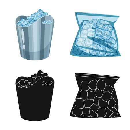 Vector illustration of texture and frozen sign. Collection of texture and transparent stock vector illustration. Archivio Fotografico - 133988837