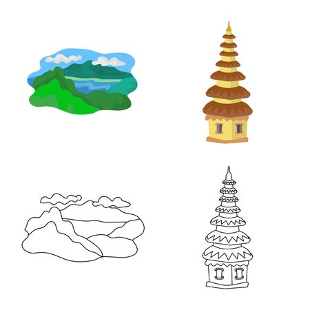 Vector design of and travel icon. Collection of and traditional vector icon for stock.