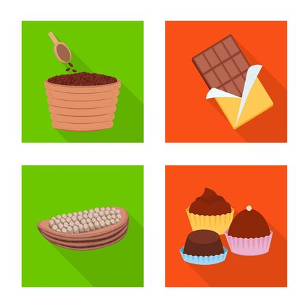 Isolated object of treat and product logo. Collection of treat and yummy stock symbol for web. Ilustrace