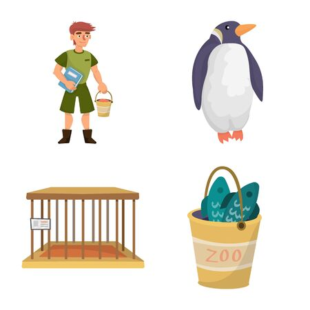 Vector design of zoo and park symbol. Collection of zoo and animal stock vector illustration. 向量圖像