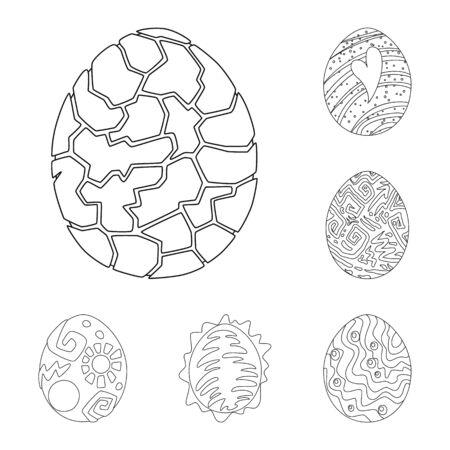 Vector design of dinosaur and magic symbol. Collection of dinosaur and fantasy vector icon for stock. Illustration
