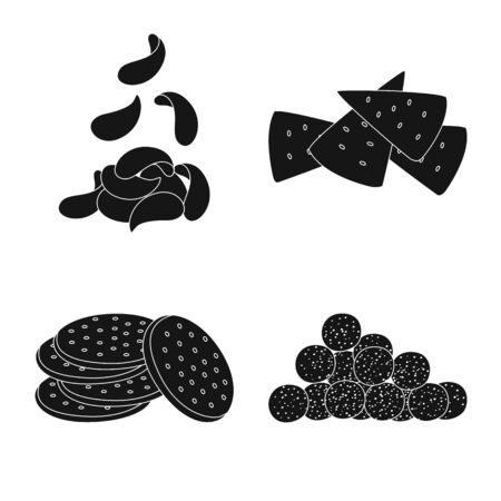 Vector illustration of party and cooking sign. Collection of party and crunchy vector icon for stock. Illustration