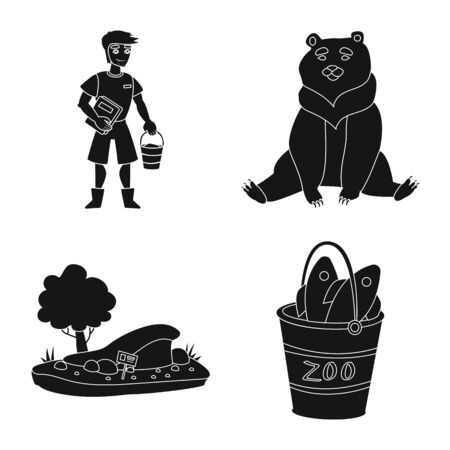 Vector design of fauna and entertainment icon. Set of fauna and park vector icon for stock.