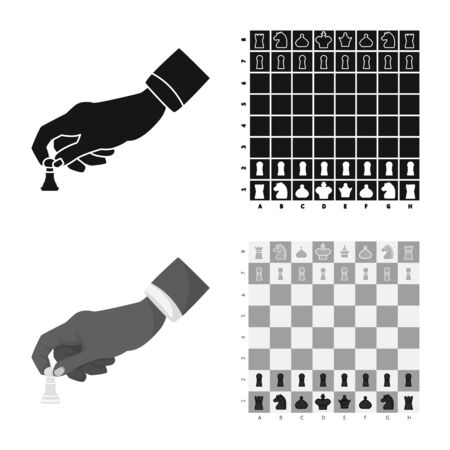 Isolated object of checkmate and thin . Set of checkmate and target stock symbol for web.