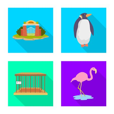 Isolated object of safari and animal symbol. Collection of safari and fun vector icon for stock.