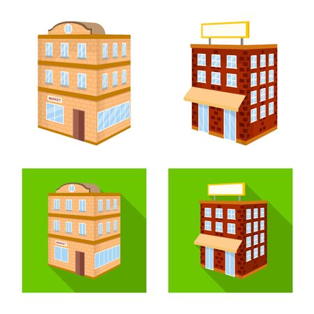 Vector design of construction and building symbol. Set of construction and estate vector icon for stock. Vetores