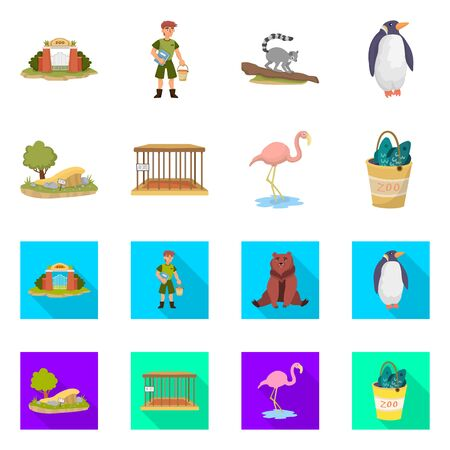 Vector design of nature and fun icon. Set of nature and entertainment stock symbol for web.