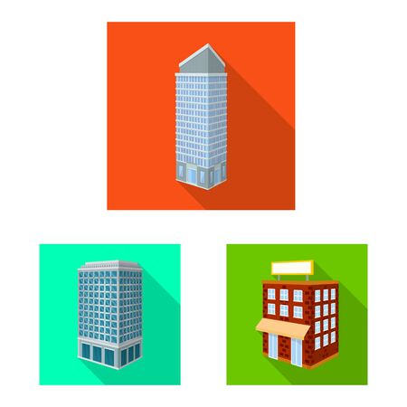 Vector illustration of construction and building symbol. Set of construction and estate stock vector illustration.