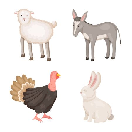 Vector illustration of farm and food icon. Collection of farm and countryside stock symbol for web.