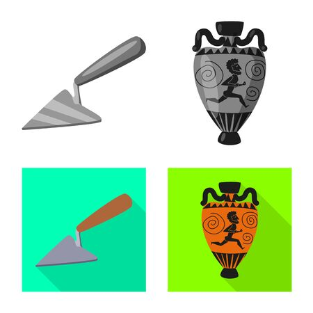 Isolated object of story and items icon. Collection of story and attributes vector icon for stock. Illusztráció